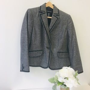 Norton McNaughton Black and White Tweed Blazer-12